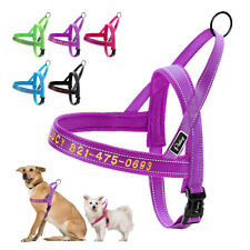 No Pull Personalized Dog Harness with Names Embroidered Reflective Adjustable