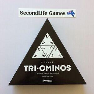 TRI-OMINOS Deluxe: The Classic Triangular Domino Game ~ Pressman (2017). H