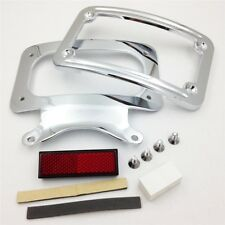Chrome Curved License Plate Mount For Harley Touring Road Street Glide 2010 +