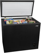 Black 7 Cu Ft Kitchen Compact Chest Freezer W  Removable Gasket & Storage