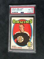 1971 O-Pee-CHEE Gerry Cheevers Boston Bruins HOF PSA-8 NM NHL Vintage