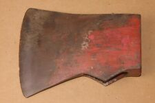 used Jersey Pattern AXE HEAD 3.42 lbs single bit unmarked 4 ridges old red paint