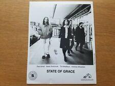 STATE OF GRACE 8x10 BLACK & WHITE Press Photo 90's POP DOWNTEMPO ELECTRONIC Band
