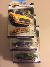 2016 Hot Wheels Ford Performance-Mustang Fast Back, Coupe, Mach 1- Lot of 3
