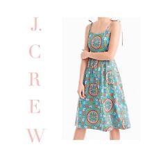 J CREW Drake's Tie Shoulder Dress Tiled Elephant G1058 sz 6 NEW *SOLD OUT*