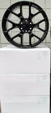 "22"" New GMC Yukon Sierra Chevy Factory Style Set of 4 Black Wheels Rims 5656"