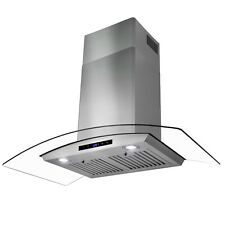 """36"""" Stainless Steel Wall Mount Range Hood with Tempered Glass Touch Panel"""