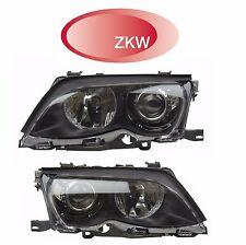 For BMW E46 320i 325i 330i Pair Set of Left & Right Headlight Assemblies ZKW OEM