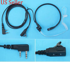 Throat Vibrate Mic PTT Covert Earpiece For Kenwood Puxing Wouxun Baofeng UV-5R