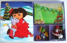 Dora The Explorer Merry Christmas Book Busy 12 Figurines Activity Play mat Santa