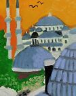 """Original oil painting Istanbul without frame size 9x7"""" (24x18 cm) canvas board"""