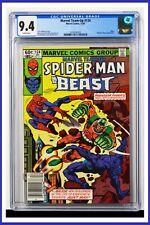 Marvel Team-Up #124 CGC Graded 9.4 Marvel 1982 Newsstand Edition Comic Book.