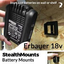5x Stealth Mounts for Erbauer 18V Battery Mounts Slot Van Wall Mount Holder