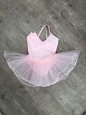 Girls Pink Red Yellow Blue Ballet Dance Leotard Tutu Ballerina Fairy Dress Up UK