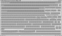 Eduard Fotoätzteile Bismarck Part 8 structural railing 1:200 Trumpeter Kit 53090