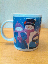 Christmas coffee mug by Houston Harvest Products, snowman design