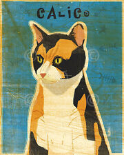 Calico by John W. Golden Animal Cat Print Poster 11x14