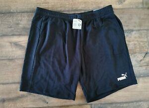 Puma Essential Fleece Shorts Black Men's Size 3XL BRAND NEW