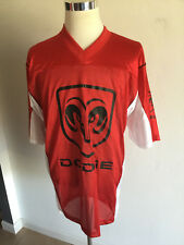 Men's Dodge Hemi Big Logo Red Football Jersey Sz Large Dodge Ram Logo Jersey