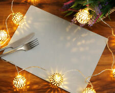 Set of 8 Elementary Grey Leatherboard Placemats  - Made in UK