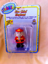 WEBKINZ FIGURE: FIRE CHIEF ELEPHANT - New in Pkg with Code!  Great Cake Topper!