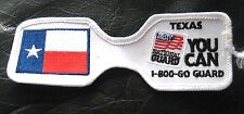 TEXAS NATIONAL GUARD EMBROIDERED SEW ON PATCH YOU CAN FLAG 5 x 1 3/4