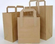 More details for brown paper sos take-away carrier bags with tape handle 3 sizes sml/med/large