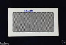 Kamingitter, Luftgitter 17cm x 30 cm, Warmluftgitter, Farbe Weiß pulverbeschicht
