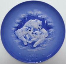 Hutschenreuther,Porzellan,Relief,Eisbären,Weihnachtsteller 1977,G. Granget,TOP++