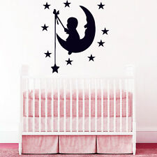 Wall Decals Moon Stars Decal Vinyl Sticker Nursery Baby Room Home Decor Chu1251