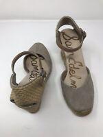 New Sam Edelman Ankle Strap Buckle Harmony Wedge 7.5 M Espadrille Sandals