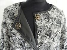 La Fabrique Fake Fur coat jacket leather trim net a porter Made in Italy S NEW
