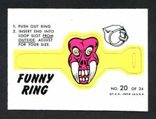 1966 Topps Funny Ring #20 Mr Fang NM