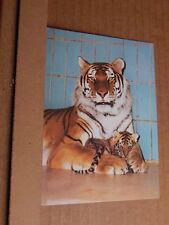 Postcard Tiger & Cub Stuttgart  Zoo  Modern card posted