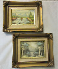 Pair of Small Vintage Oil Paintings, Landscapes, Beautifully Matted & Framed
