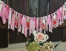 vtg curtain First Birthday lace curtian Garland decor nursery valentines day
