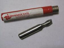 Brubaker 74009 Hss Sngl End Mill 2 Flutes 5/16x3/8x1/2 Loc M7 Cc, Lead 1.700 Usa
