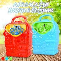 Automatique Électrique Machine à bulles Souffleur Portable Pour Enfant Jouet
