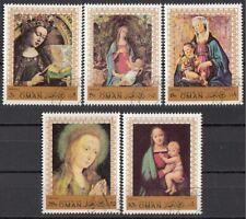 Oman 1970 Natale Christmas Madonna col Bambino Quadro Dipinto Paintings