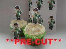 ben 10 X24 edible stand up cup cake toppers, wafer paper *pre-cut*