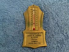 Antique Art Deco Advertising FLORIST WORKING Thermometer JOHN W BOWES & SONS
