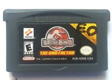 Gameboy Advance Game Plays on GBA SP DS DSL ~ JURASSIC PARK III THE DNA FACTOR