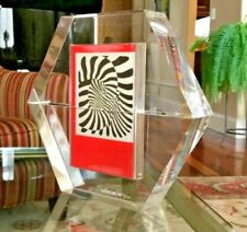 "VICTOR VASARELY-""HEXAGONE"" ACRYLIC SCULPTURE-1988 w/ 4 Books Signed & Numbered"