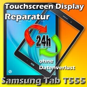 24 Stunden Samsung Galaxy Tab SM T555 Touchscreen Display Glas Reparatur Schwarz