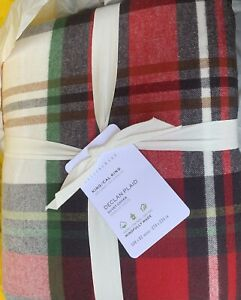 New 1st Quality pottery barn Declan plaid Flannel king cal king Duvet Cover