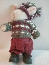 Hoppy Vander Hare Rabbit Winter Frolic Plush Muffy Collection Jointed 1995 Vtg