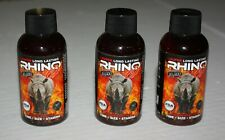 3 Rhino Extreme Liquid 2oz Male Enhancement Free Shipping 2 Servings Each Bottle