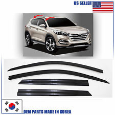 SMOKED DOOR WINDOW VENT VISOR DEFLECTOR (D053) HYUNDAI TUCSON 2016-2017