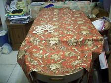 ShowerCurtain/Hooks:Paisley 70X68 Poly Rust Backgr/brown/gold/white (#332)