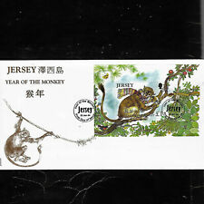"Stamps Jersey FDC ""Year of the Monkey"""